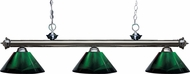 Z-Lite 200-3GM-ARG Riviera Gun Metal Green Island Lighting