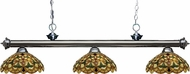 Z-Lite 200-3GM-C14 Riviera Gun Metal Multi Colored Tiffany Island Light Fixture