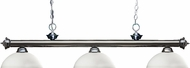 Z-Lite 200-3GM-DMO14 Riviera Gun Metal Dome Matte Opal Kitchen Island Lighting