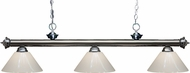 Z-Lite 200-3GM-PWH Riviera Gun Metal White Kitchen Island Light Fixture