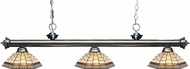 Z-Lite 200-3GM-Z14-35 Riviera Gun Metal Multi Colored Tiffany Island Light Fixture