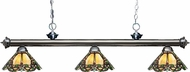 Z-Lite 200-3GM-Z14-37 Riviera Gun Metal Multi Colored Tiffany Kitchen Island Light Fixture