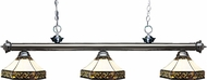 Z-Lite 200-3GM-Z16-30 Riviera Gun Metal Multi Colored Tiffany Kitchen Island Light
