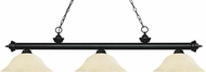 Z-Lite 200-3MB-GM16 Riviera Matte Black Golden Mottle Island Lighting
