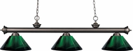 Z-Lite 200-3OB-ARG Riviera Olde Bronze Green Kitchen Island Lighting