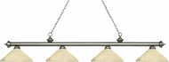 Z-Lite 200-4AS-AGM14 Riviera Antique Silver Angle Golden Mottle Island Lighting