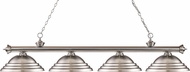 Z-Lite 200-4BN-SBN Riviera Brushed Nickel Stepped Brushed Nickel Island Light Fixture