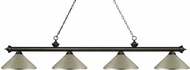 Z-Lite 200-4GB-MAS Riviera Golden Bronze Antique Silver Island Lighting