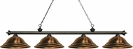 Z-Lite 200-4GB-SAC Riviera Golden Bronze Stepped Antique Copper Kitchen Island Light