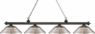 Z-Lite 200-4GB-SBN Riviera Golden Bronze Stepped Brushed Nickel Island Light Fixture