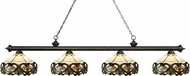 Z-Lite 200-4GB-Z14-33 Riviera Golden Bronze Multi-Coloured Tiffany Island Lighting