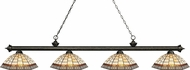 Z-Lite 200-4GB-Z14-35 Riviera Golden Bronze Multi-Coloured Tiffany Kitchen Island Light