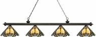 Z-Lite 200-4GB-Z14-37 Riviera Golden Bronze Multi-Coloured Tiffany Island Light Fixture