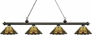 Z-Lite 200-4GB-Z14-46 Riviera Golden Bronze Multi-Coloured Tiffany Kitchen Island Light Fixture