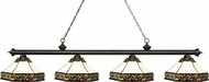 Z-Lite 200-4GB-Z16-30 Riviera Golden Bronze Multi-Coloured Tiffany Kitchen Island Lighting