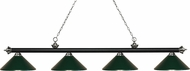 Z-Lite 200-4MB-BN-MDG Riviera Matte Black & Brushed Nickel Dark Green Kitchen Island Light