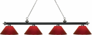 Z-Lite 200-4MB-BN-PRD Riviera Matte Black & Brushed Nickel Red Island Lighting