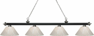 Z-Lite 200-4MB-BN-PWH Riviera Matte Black & Brushed Nickel White Kitchen Island Lighting
