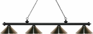 Z-Lite 200-4MB-MBN Riviera Matte Black Brushed Nickel Kitchen Island Light Fixture
