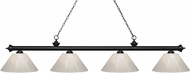 Z-Lite 200-4MB-PWH Riviera Matte Black White Kitchen Island Light Fixture
