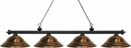 Z-Lite 200-4MB-SAC Riviera Matte Black Stepped Antique Copper Island Lighting