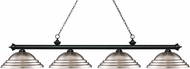 Z-Lite 200-4MB-SBN Riviera Matte Black Stepped Brushed Nickel Kitchen Island Lighting