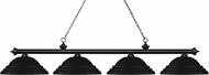 Z-Lite 200-4MB-SMB Riviera Matte Black Stepped Matte Black Island Light Fixture
