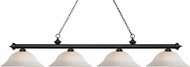 Z-Lite 200-4MB-WM16 Riviera Matte Black White Mottle Kitchen Island Lighting
