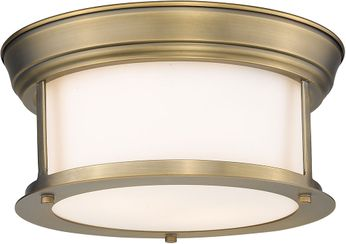 Z-Lite 2011F10-HBR Sonna Modern Heritage Brass Ceiling Lighting