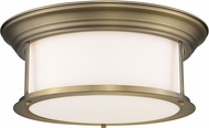 Z-Lite 2011F16-HBR Sonna Contemporary Heritage Brass Ceiling Light Fixture