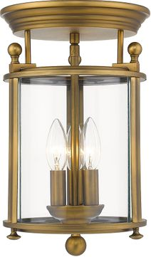 Z-Lite 205F-HB Wyndham Heirloom Brass Ceiling Lighting