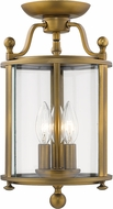 Z-Lite 205SF-HB Wyndham Heirloom Brass Ceiling Light