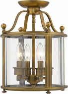 Z-Lite 205SFM-HB Wyndham Heirloom Brass Ceiling Light Fixture