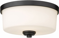 Z-Lite 220F2-MB Arlington Matte Black 12  Ceiling Lighting