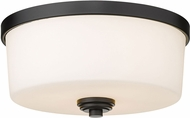 Z-Lite 220F3-MB Arlington Matte Black 14  Ceiling Light