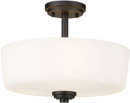 Z-Lite 220SF3 Arlington Bronze Ceiling Light Fixture
