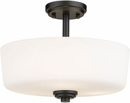 Z-Lite 220SF3-MB Arlington Matte Black Ceiling Lighting Fixture