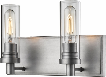 Z-Lite 3000-2V-OS Persis Contemporary Old Silver 2-Light Bath Lighting Fixture
