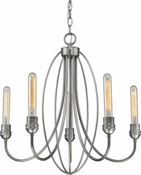 Z-Lite 3000-5OS Persis Contemporary Old Silver Mini Chandelier Light