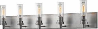 Z-Lite 3000-5V-OS Persis Modern Old Silver 5-Light Bathroom Vanity Light