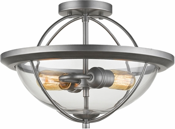 Z-Lite 3000SF-OS Persis Contemporary Old Silver Ceiling Light