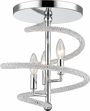 Z-Lite 3001-3SFCH Czarina Chrome Ceiling Lighting