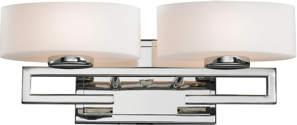 Hampton Bay 2 Light Chrome Bath Light 05659: Z-Lite 3011-2V-LED Cetynia Contemporary Chrome LED 2-Light