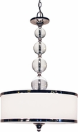 Z-Lite 307P-CH Cosmopolitan Chrome 33  Tall Drum Pendant Light Fixture
