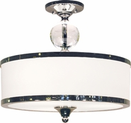 Z-Lite 307SF-CH Cosmopolitan Chrome 15.5  Wide Ceiling Light Fixture
