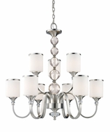 Z-Lite 308-9-BN Cosmopolitan Brushed Nickel 31  Wide Hanging Chandelier