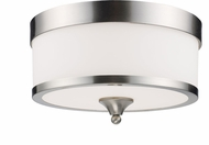 Z-Lite 308F-BN Cosmopolitan Brushed Nickel 8  Tall Ceiling Lighting Fixture