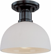 Z-Lite 314F-BRZ Chelsey Dark Bronze 8  Wide Flush Ceiling Light Fixture