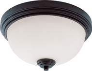 Z-Lite 314F2-BRZ Chelsey Dark Bronze 12  Wide Flush Mount Lighting