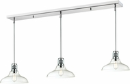Z-Lite 321-13MP-3CH Forge Modern Chrome Clear Multi Hanging Light Fixture